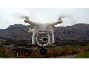 Generic Action or 360 Camera mount for Phantom 3 Advanced-Pro