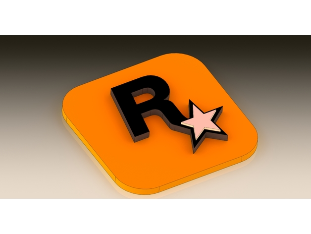 rockstar logo by lordosis thingiverse