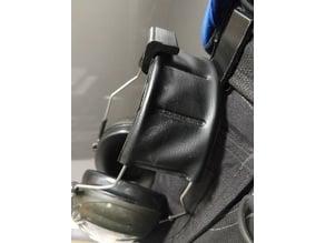 Handy belt hook for hearing protection earphones