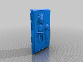 Rick and Morty frozen in Carbonite