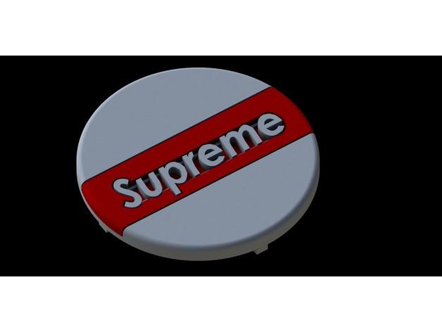 Supreme Pop Socket By JustinSpanier - Thingiverse