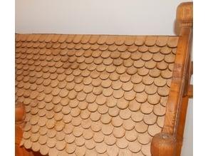 Dachziegel (z.B. für ein Puppenhaus, eine Krippe) / roof tile