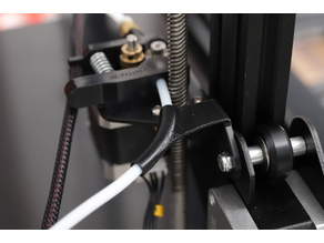 Rear-facing angled filament guide with PTFE-tube for CR-10s