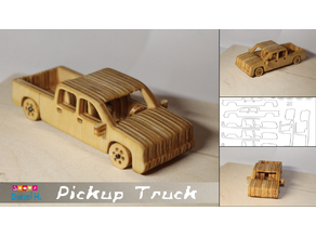Pickup Truck Toy for laser/cnc cut