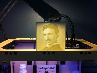 Tesla Lithopane