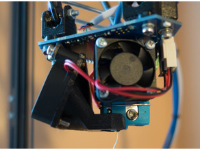 modified print cooling fan duct and mount for Duet3D pcb effector