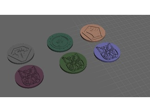 ROBOTECH Reconstruction Blues RRT Strategy GAME PIECES Malcontent set 1 Rally token