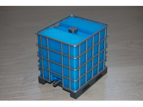 IBC container 1/10 scale