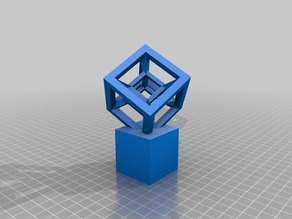 Hypercube with Stand (Offset at 45 degree angles)