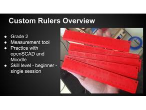 Custom Ruler 1cm markings