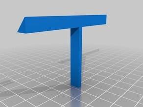45 degree angle rod mount for LED strip