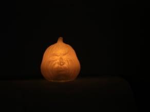 Mini Grumpy Pumpkin LED Decoration