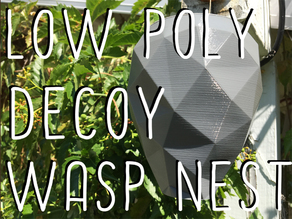 Low Poly Decoy Wasp Nest
