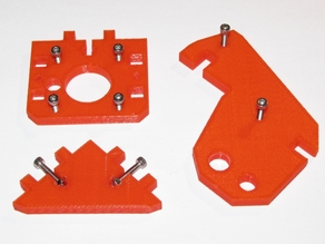Printable Prusa i3 Frame Parts for Laser-cut (6mm) Frames