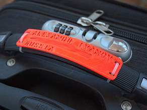 Parametric luggage handle tag