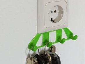 Schlüsselbrett für Lichtschalter oder Steckdose (kein Dübel, keine Nägel)
