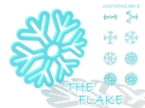 The Flake - Customizable Snowflake