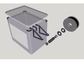 External spool holder with ball bearings for FlashForge Dreamer
