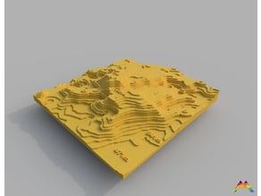 Serra da Estrela 3D printed Contour Map