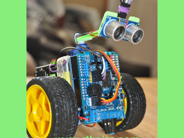 Scru fe simple c robot with ultra sonic sensor for