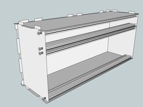 Eurorack Lasercut Case 84HP 4U 123mm