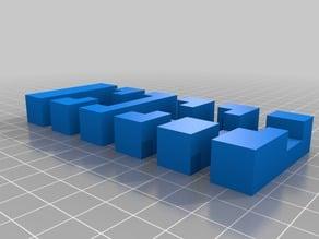 3D Printed Interlocking Puzzle