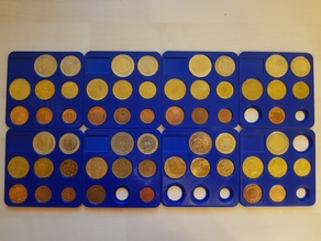 Pad for Collecting EURO Coins