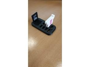 Sd, flash card holder