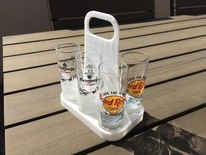 Shot Glass Transporter / Holder (Shot Glas Tragerl)