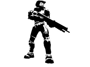 Halo Master Chief stencil