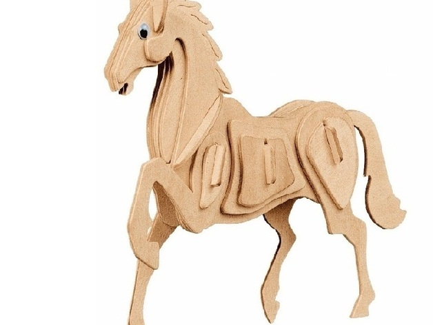 3d crystal puzzle horse instructions