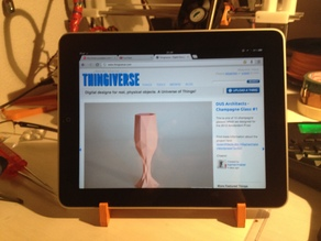 Simple and compact iPad stand