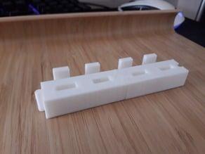 Puzzle-like USB stick holder
