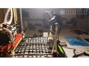 120mm USB Fan Mount - Geeetech i3 Acrylic