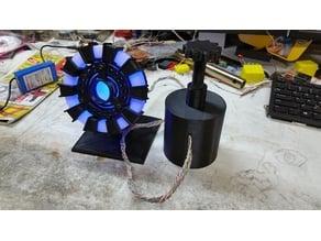 Tony Stark Arc Reactor Adjustable 1Watt LEDs & Power Base