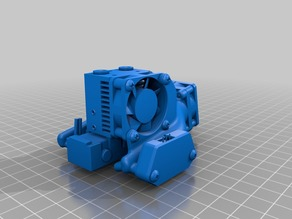 Filament Cooler Fan Shroud, Dual Side, E3D Chimera and Cyclops with DC42 Mini IR Sensor Mount