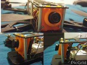 QAV250 15 Deg Camera Mount Sony HAD 1/3