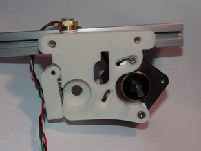 Greg's Hinged Accessible Extruder With Extrusion Base Mount Designed for Bowden