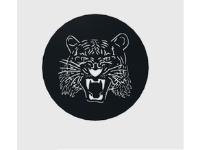 Tiger - Coffee - Stencil