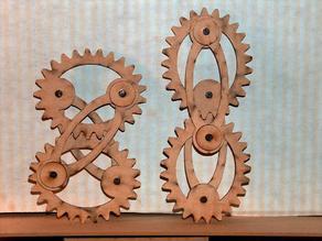 Crosslink ellipse gears