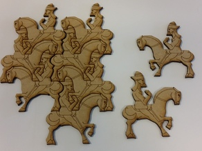 Tessellating Horse and Rider based on M C Escher's work