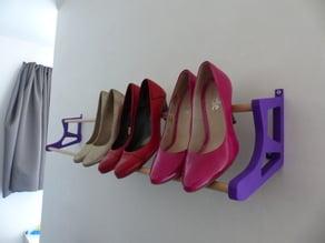 high-heeled shoe storage