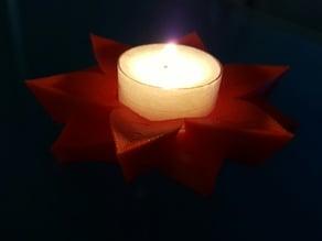 Poinsettia Tea Light
