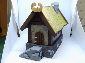 28 mm scale - viking farm / house - rohan / warhammer