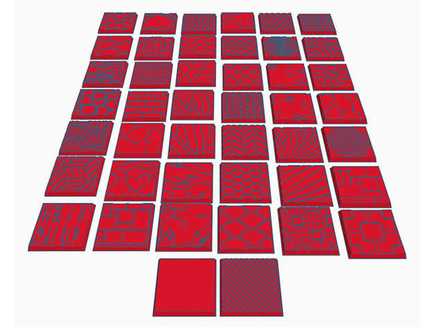 44 Square Bases (25mm) for Dungeons Dragons or Wahammer tabletop Miniatures by EpicNameFail