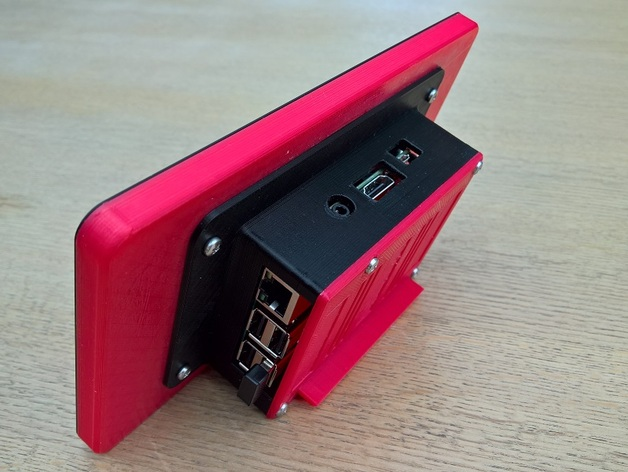 Raspberry Pi 7 Inch Touchscreen Display Case By Luc E