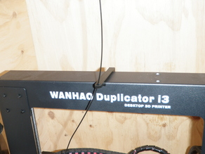 Minimal Top Loading Filament Guide For Wanhao Duplicator i3