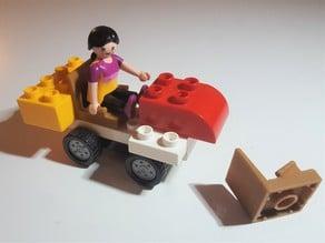 Playmobil seat for Duplo bricks