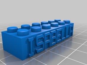 My Customized Lego Block Necklace/Keychain_ISABELLA