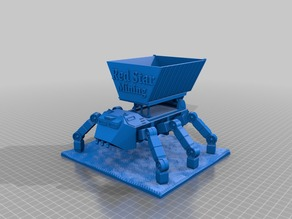 Ant with large open skip on tipper civilian  sci-fi walker